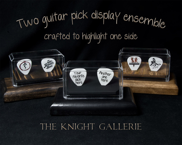 2 Guitar Pick Display Ensemble