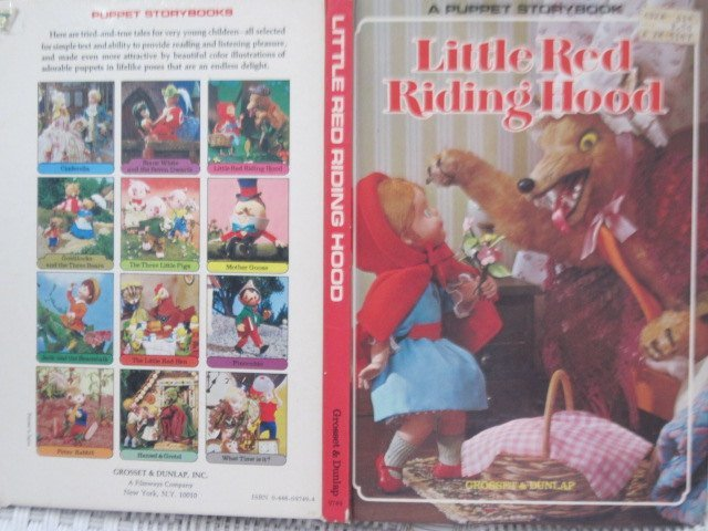 Little Red Riding Hood a Puppet Story Book 1970, Board Book, Vintage Children's