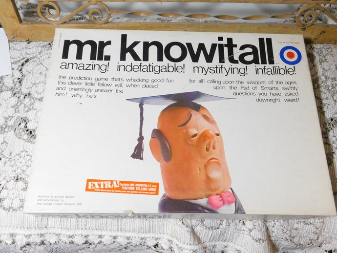 Mr Know it All Prediction Board Game, Entex 302, Hard to Find Game, By Entex