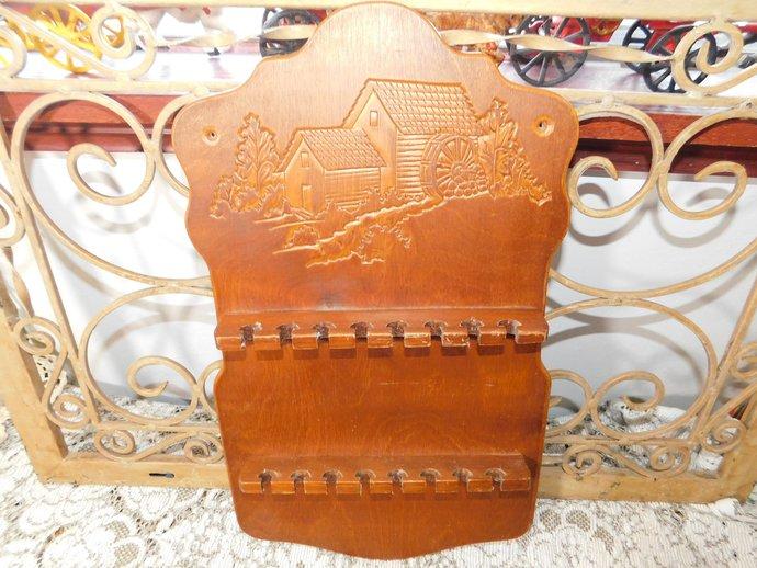 Vintage Wooden Spoon Rack holds 16 Spoons, Vintage Home Decor, Vint Kitchen