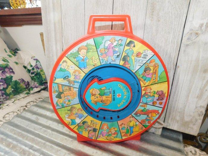 Mattel Pull String Safe N Sound, Vintage See N Say Toy, Vintage Toys, Vintage