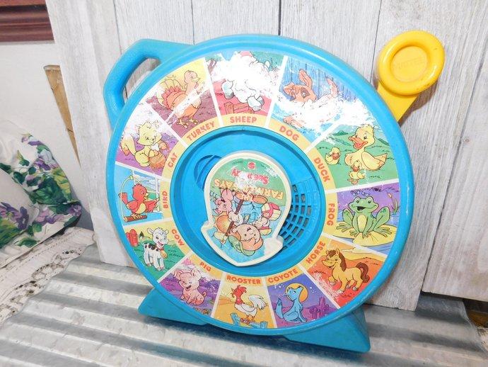 Mattel  Talking See N Say Toy Farmer Says, Vintage Talking Toys, Vintage Toys,