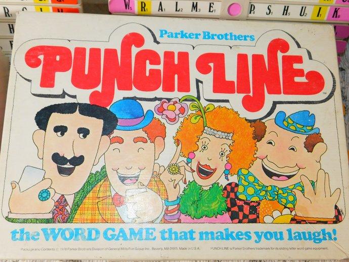 Punch Line Parker Brothers Game 1978, Vintage Board Game, Parker Brothers Game,