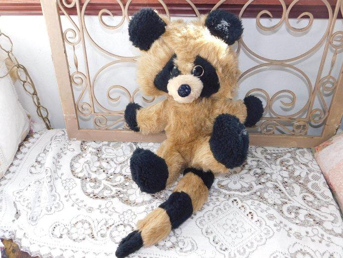 Raccoon Stuffed Raccoon Sweet, Vintage Toys, Vintage Stuffed Toys, Raccoon,