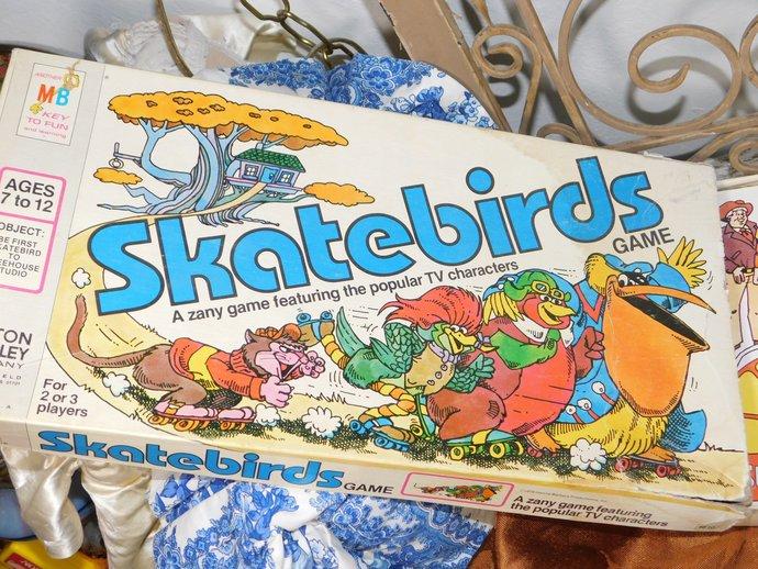 SKATEBIRDS 1978 Milton Bradley Game, Vintage Game, Vintage board Game,