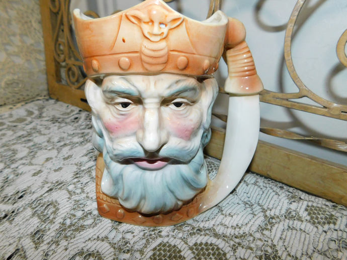 Pirate Captain ?  Face Cup Or Mug Sweet, Mug, Vintage Mug, Face Mug, Coffee Mug,