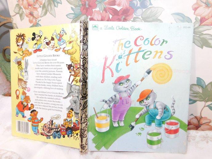 The Color Kittens Little Golden Book 1994,Vintage Golden Book,Vintage Children's