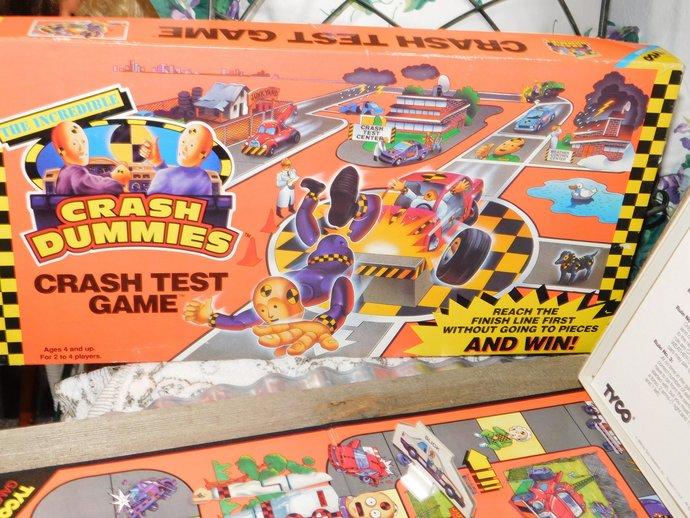 Crash Dummies Crash Test Board Game, Crash Dummies,  Vintage Board Game,