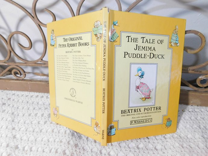 The Tale of Jemima Puddle-Duck 1992, Beatrix Potter, Child's Vintage Book, Hard