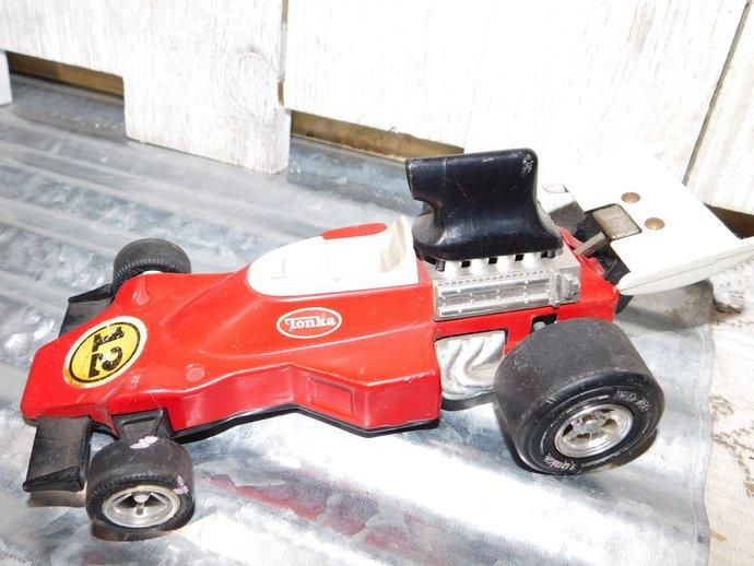 Tonka Metal Red Indy Race Car 12, Metal Tonka Race Car, Vintage Red Toy Race