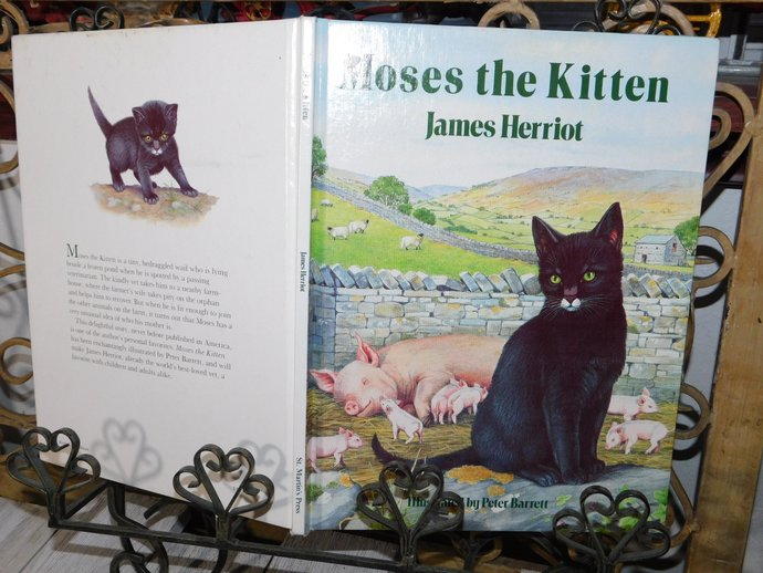 Moses the Kitten by James Herriot (1984) Hardcover ,Vintage Childrens Book,