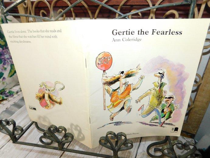 Gertie The Fearless Ann Coleridge 1987, Paper back Book,  Childrens Book,
