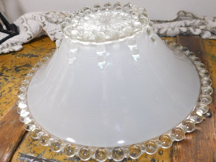 Light Shade, Vintage Light Shade, Vintage Glass  Beaded Light Shade, Vintage