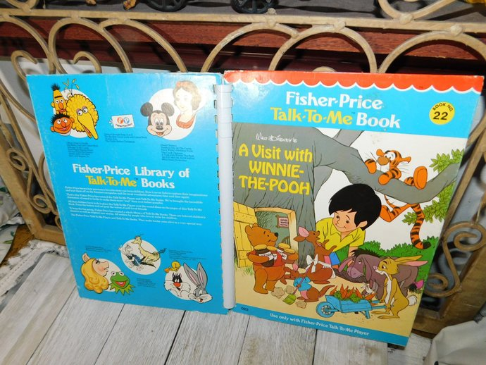 Fisher Price Talk to Me Book Its the A Visit with Winnie The Pooh # 22 1970,