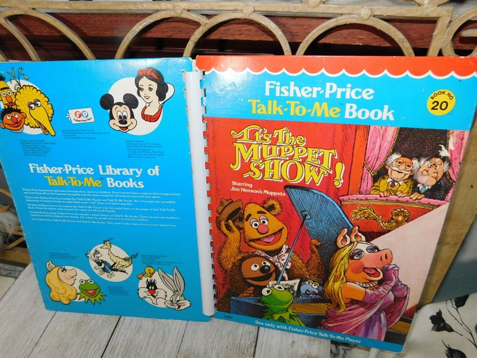 Fisher Price Talk to Me Book Its the Muppet Show # 20 1970, Talk To Me Player