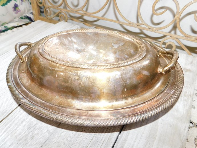 Oval Silver Dish, Silver Dish, Serving Dish, Vintage Table Ware, Vintage Kitchen