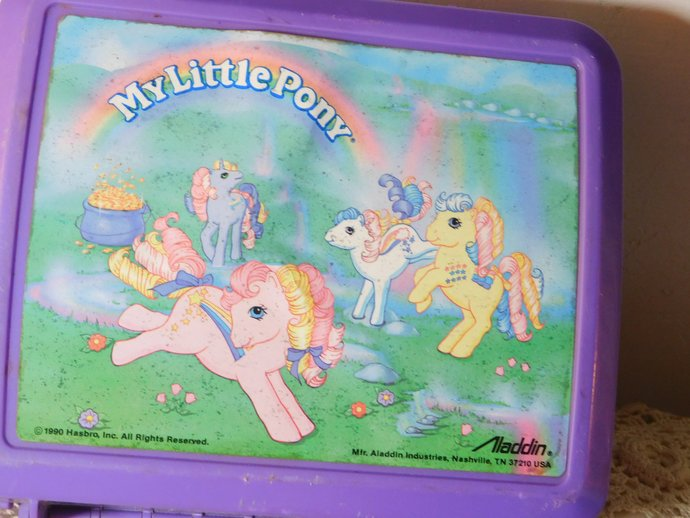 My Little Pony Lunch Box, Vintage Lunch Box, My Little Pony, 1980 s Lunch box,