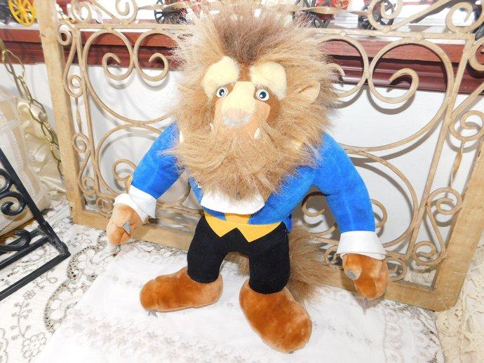 Disney's Beauty And the Beast Beast Stuffed Toy 1992, Vintage Beauty and Beast