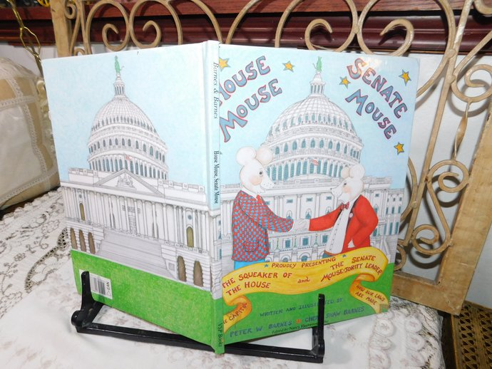 House Mouse Senate Mouse by Peter W Barnes Cheryl Shaw Barnes, Childrens Book,