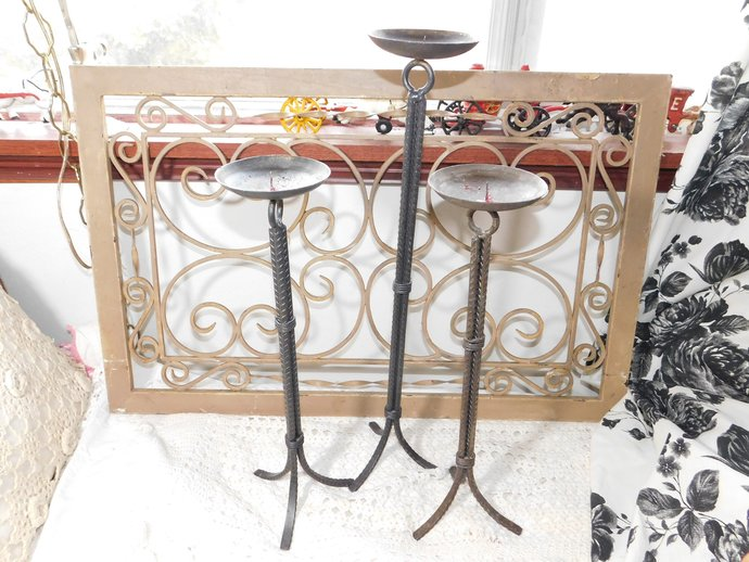 Candle Stick Holders Metal set of 3, Set of Candle Stick Holders, Candle Stick