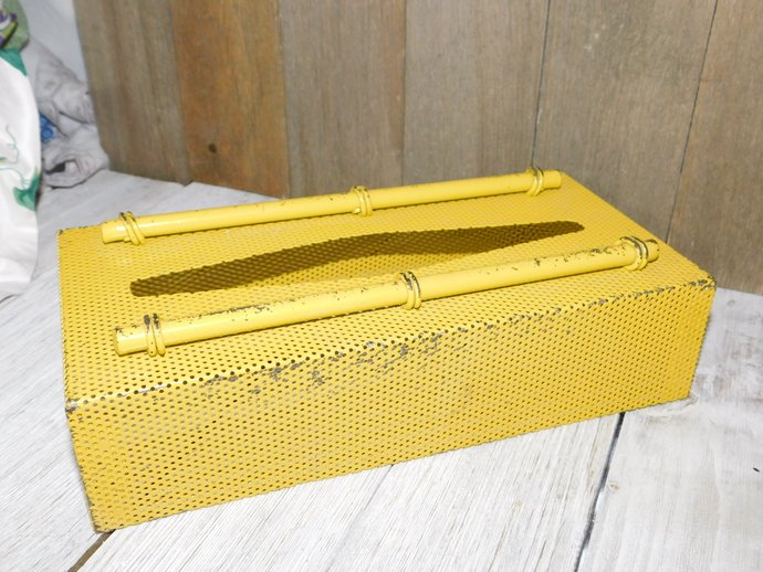 Metal Vintage Kleenex Box Retro Looking, Vintage Kleenex Box, Industrial Decor,