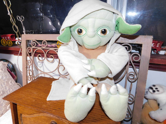 YODA Star Wars Lucas FILM, Star Wars, Stuffed Yoda Toy, Stuffed Toy, Vintage