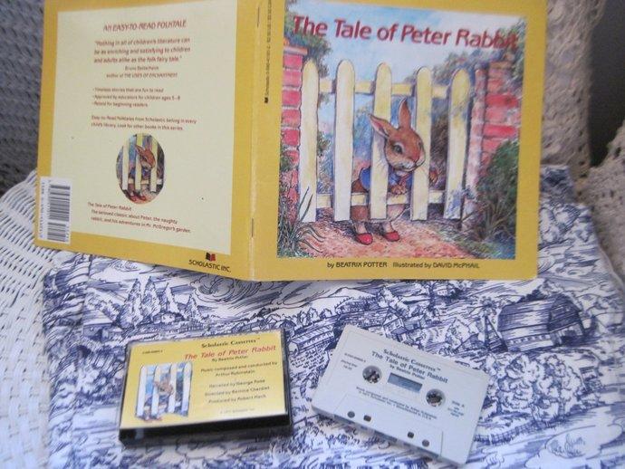 The Tale Of Peter Rabbit Tape and Book Set, Children's Books, Preschool Books,