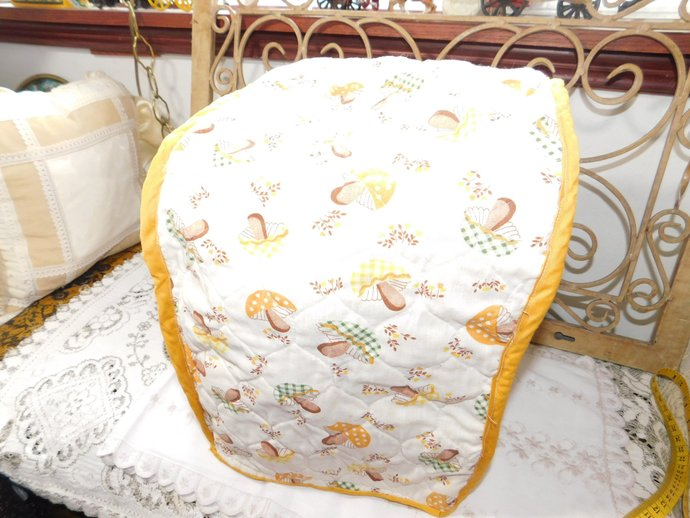 Kitchen Appliance Cloth Cover Mushrooms, Appliance Cover, Appliance Cover,