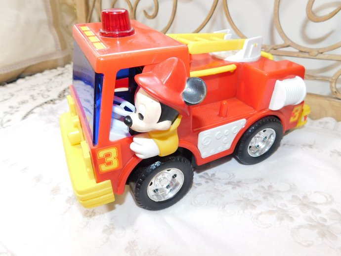 Mickey Mouse Bump and Go Fire Truck, Fire Truck, Mickey Mouse, Disney Fire