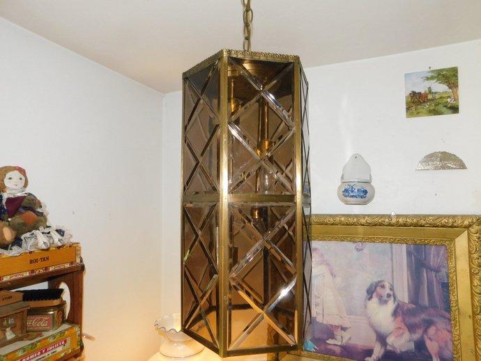 Hollywood Regency Mid Century Ceiling light Beautiful, Vintage Ceiling Light or