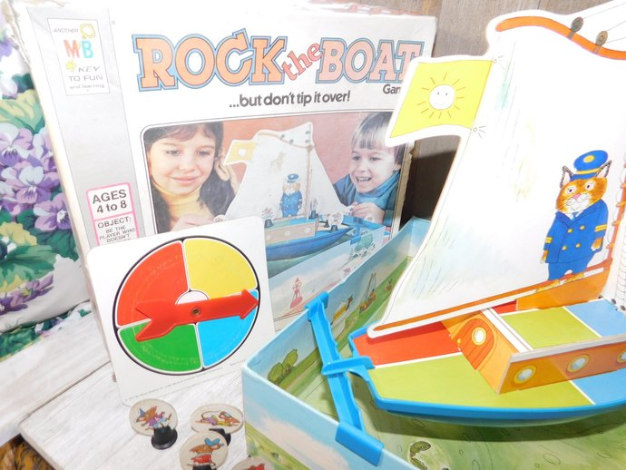 Rock The Boat but don't tip it over Game 1978, Based on Richard Scarry Artwork,