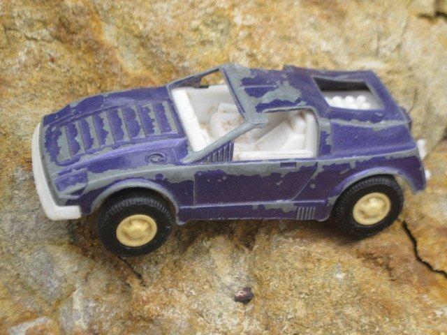 Tootsie Toy Purple Car Captain Lazer Car, Metal Toy Car, Vintage Tootsie Toys,