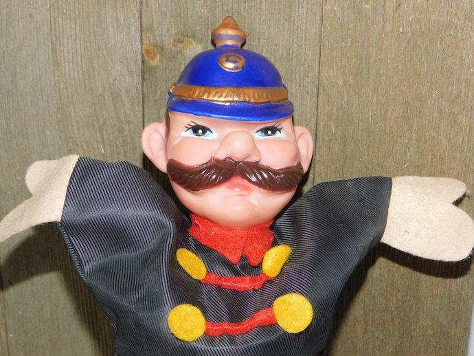 Vintage Cop Hand Puppet, Hand Puppet, Toy Puppet, Puppet Show, Vintage Toys,