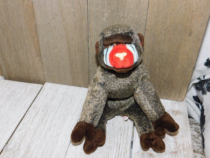 TY Cheeks Baboon Beanie Baby # 2, Vintage Ty Beanie Baby, Vintage Stuffed Toys,