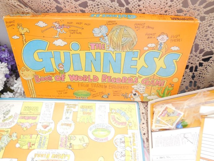 The Guinness Book of World Records Game, Board Game, Vintage Board Game, Games,