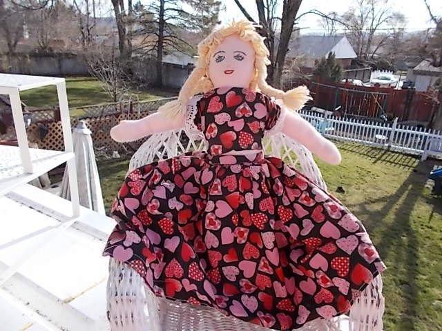Topsy Turvey Doll , Little Red Riding Hood Topsy Turvey Doll, Doll, Cloth Doll,