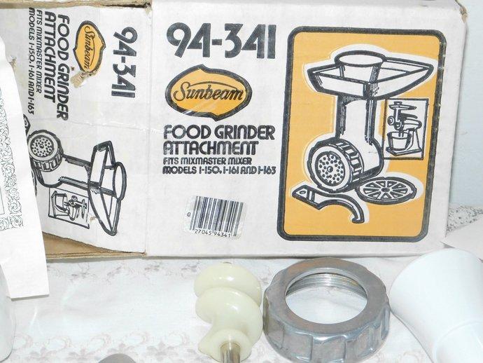 Sunbeam Food Grinder Attachment 94-341, Vintage Kitchen Tools, Vintage Kitchen,