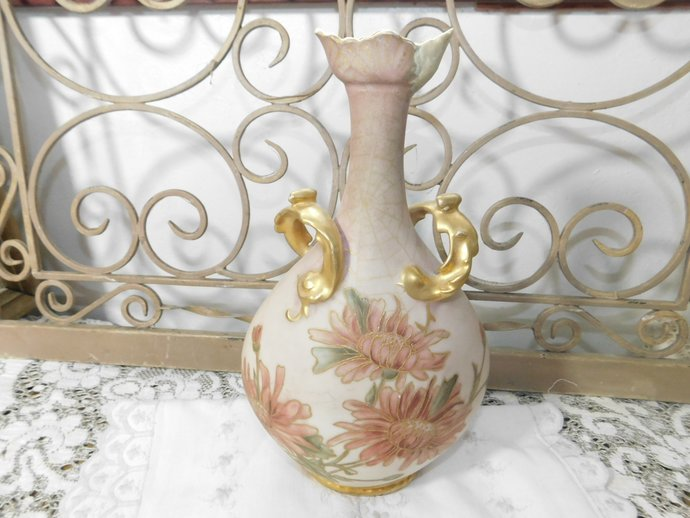 J.P.L France Vase A.D.P 92, Vintage J.P.L France Vase A.D.P Spider Web and