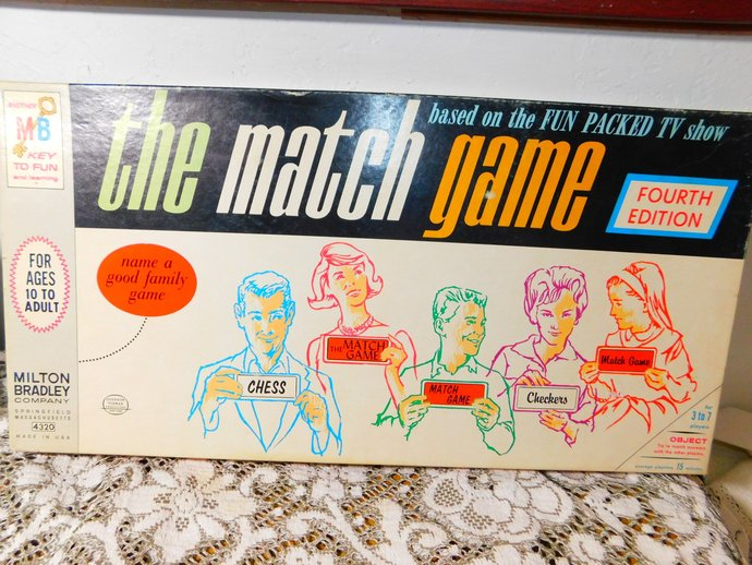 The Match Game 1965, -Fourth Edition Milton Bradley #4320 MB Vintage Board Game,