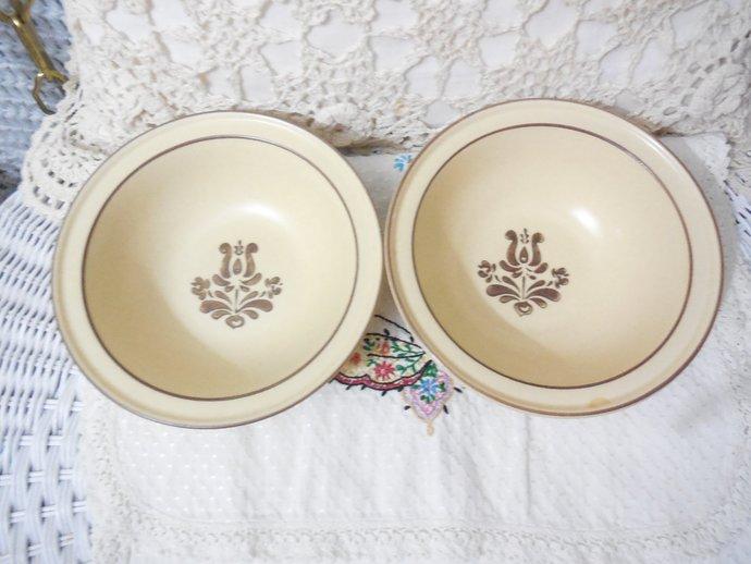 Pfaltzgraff Village Cereal Bowl Set of 2, Vintage Dishes, Vintage Bowls, Country