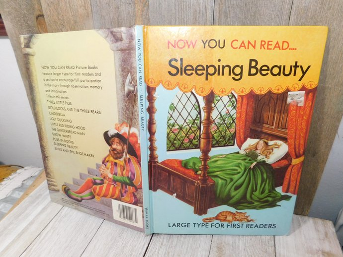 Sleeping beauty Now You Can Read Book, Large Type For First Reader, Vintage