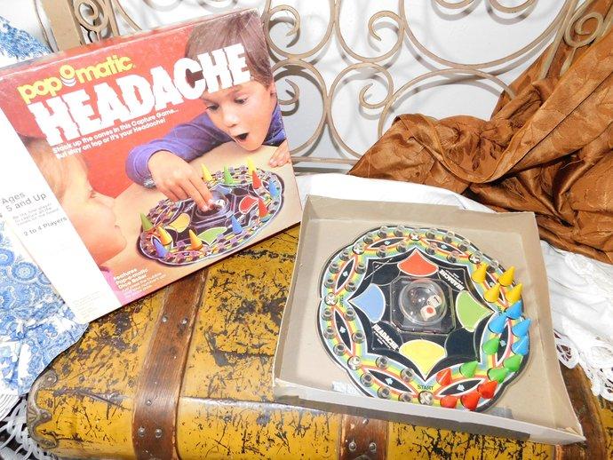 Pop O Matic HEADACHE Game,  Vintage Board Game, Vintage Game, Toys, Vintage