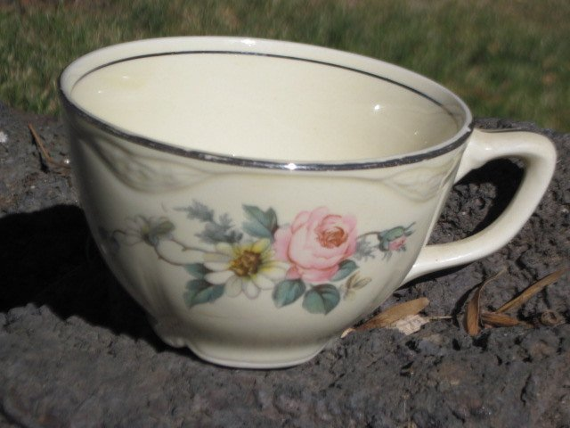 Vintage Tea Cup, China Cup with Pretty Pink, White Flower, Vintage Cup, Vintage