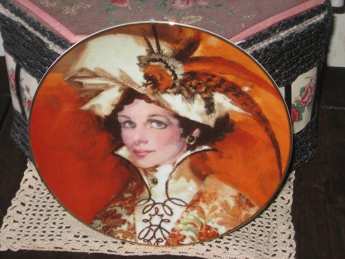 ALBEE Plate, Avon Collectible ALBEE Plate, Autum's Bright Blaze, Collectible