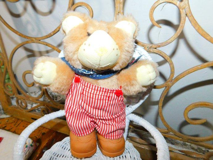Furskin Bear from Wendys  1986, Small Xavier Roberts Furskin Bear,Xavier