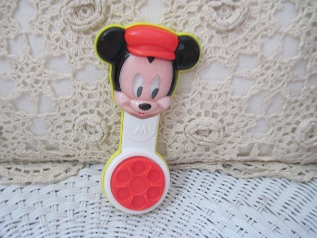 Mickey Mouse Baby Rattle, Mickey Mouse, Baby Rattle, Vintage Baby Rattle, Toys,