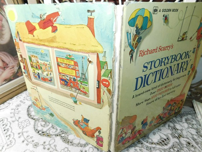 Richard Scarry's Story Book Dictionary 1974, Vintage Childrens Book, Vintage