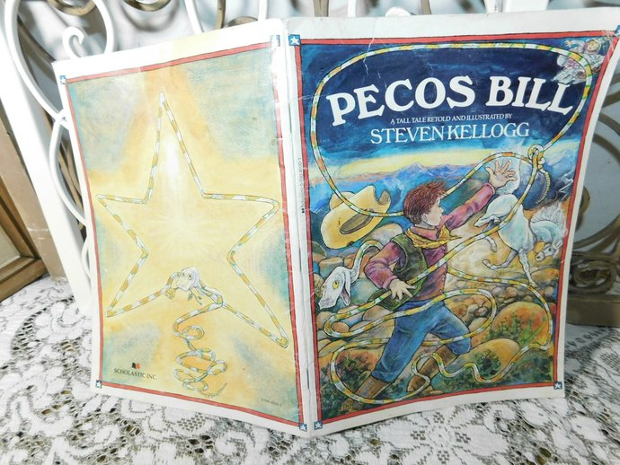 Pecos Bill A Tall Tale Retold By Steven Kellogg 1986, Vintage Childrens Books,