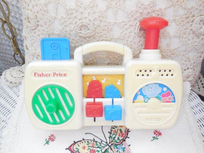 Fisher Price 1991 Radio, Vintage Toys, Toy Radios, Busy Box Type Toy, Radio