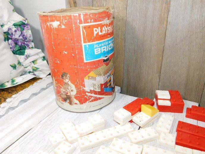 Playskool Plastic Building Brick, 1970 Building Bricks, Building Toys, Vintage